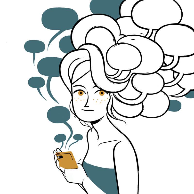 """Tavola da """"Shhh! L'estate in cui tutto cambia"""" di Magnhild Winsnes, in mostra al Festival del fumetto Bilbolbul 2019"""