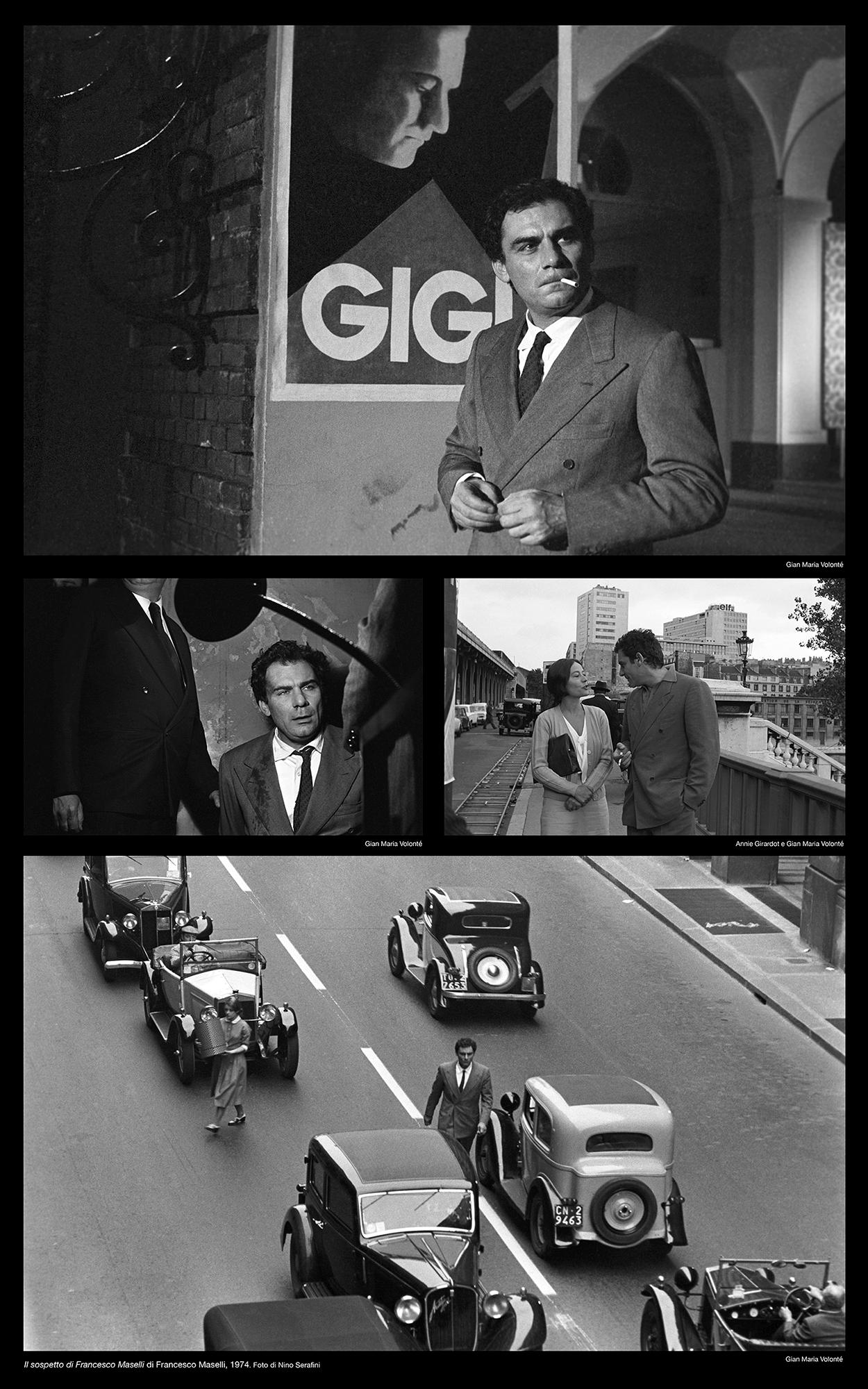 """Scatti dall'Archivio fotografico dellaCineteca Nazionale del film """"Il Sospetto"""" con Gian Maria Volontè,"""