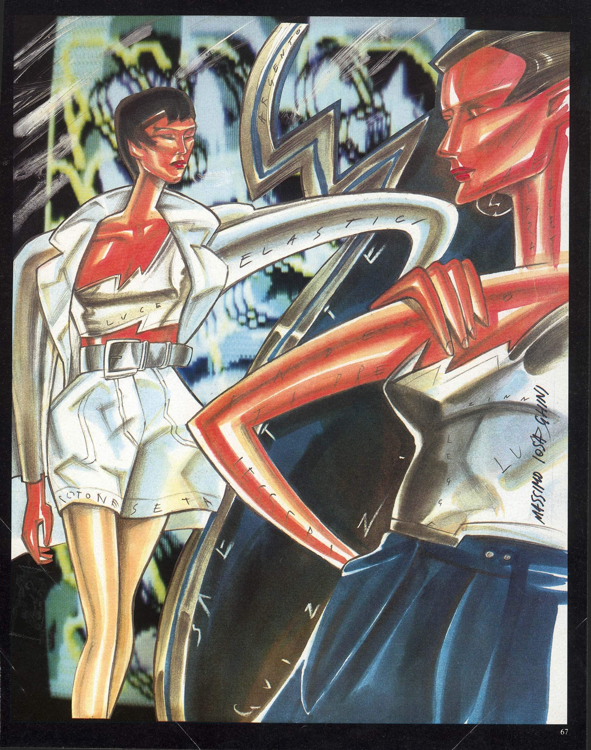 Illustrazioni per la rivista Vanity di Massimo Iosa Ghini del 1984