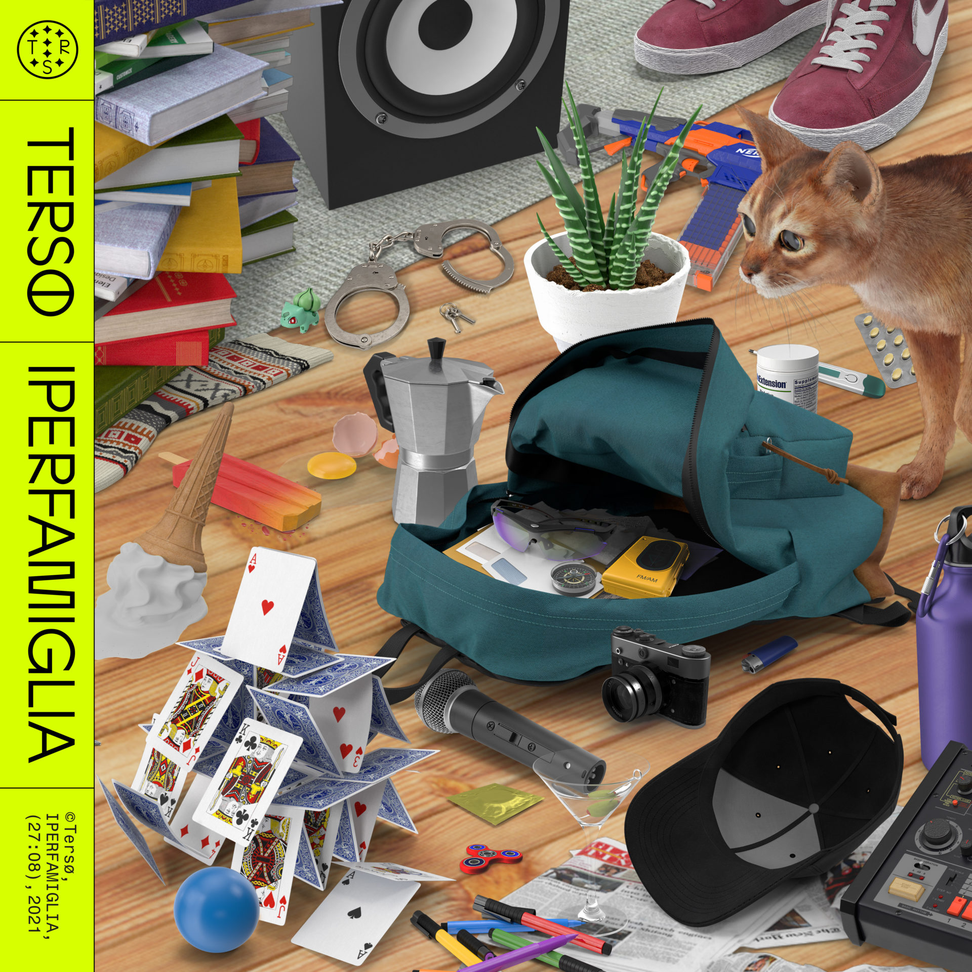 Iperfamiglia cover album Terso by @studioframes